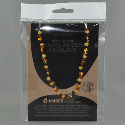 AMBER BEBE BALTIC AMBER NECKLACE (Children's Multi)