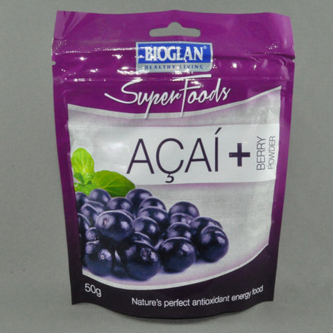 BIOGLAN SUPER FOODS ACAI BERRY POWDER 50G