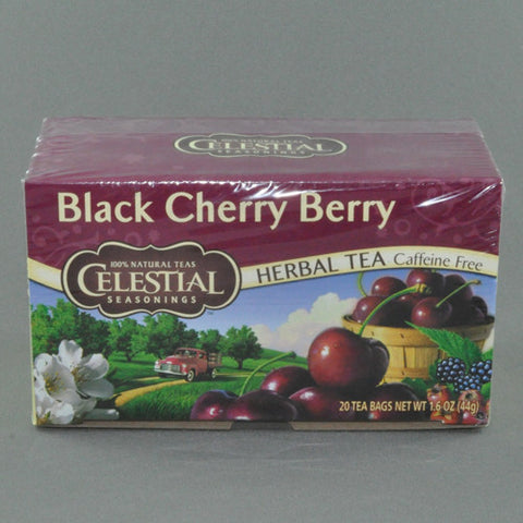 CELESTIAL BLACK CHERRY BERRY HERBAL TEA BAGS PK20