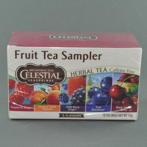 CELESTIAL HERBAL FRUIT TEA SAMPLER BAGS PK20