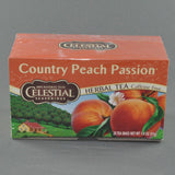 CELESTIAL COUNTRY PEACH PASSION HERBAL TEA BAGS PK20