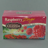 CELESTIAL RASPBERRY ZINGER HERBAL TEA BAGS PK20
