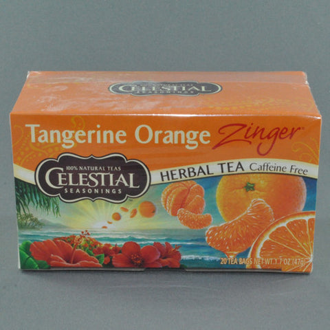 CELESTIAL TANGERINE ORANGE ZINGER HERBAL TEA BAGS PK20