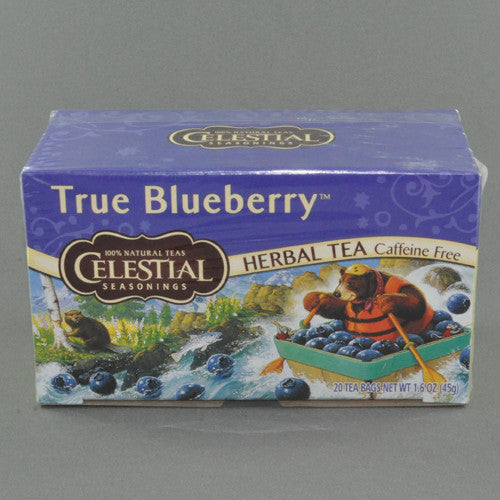 CELESTIAL TRUE BLUEBERRY HERBAL TEA BAGS PK20