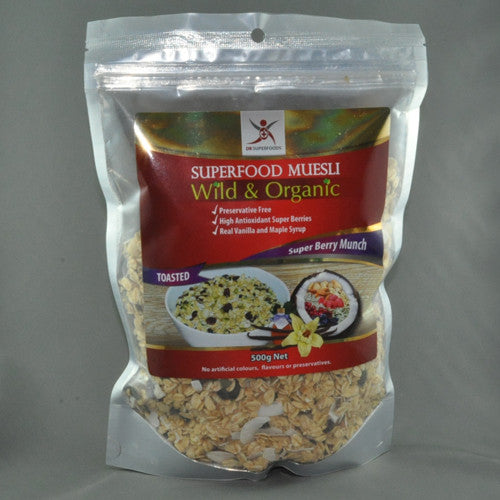 DR SUPERFOODS MUSELI SUPER BERRY MUNCH 500G