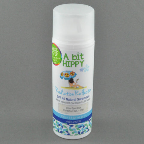 A BIT HIPPY RADIATION REFLECTOR SPF40 NATURAL SUNSCREEN 100G