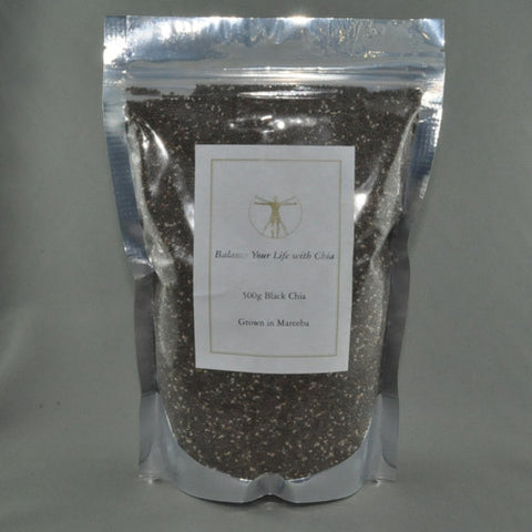 HOUSE OF CHIA BLACK CHIA SEEDS 500G