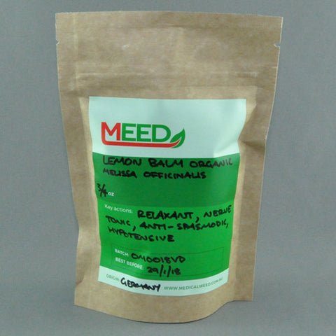MEED LEMON BALM ORGANIC (Melissa Officinalis) 3/4oz
