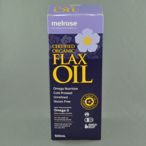 MELROSE CERTIFIED ORGANIC FLAXSEED OIL