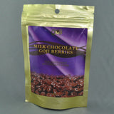 NATURALLY GOJI MILK CHOCOLATE GOJI BERRIES 125G