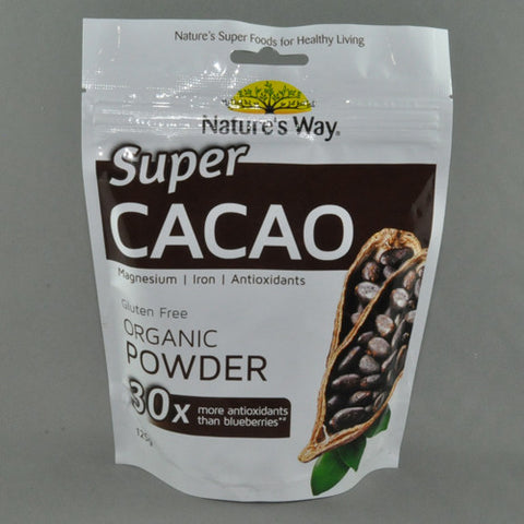 NATURE'S WAY ORGANIC SUPER CACAO POWDER 125G