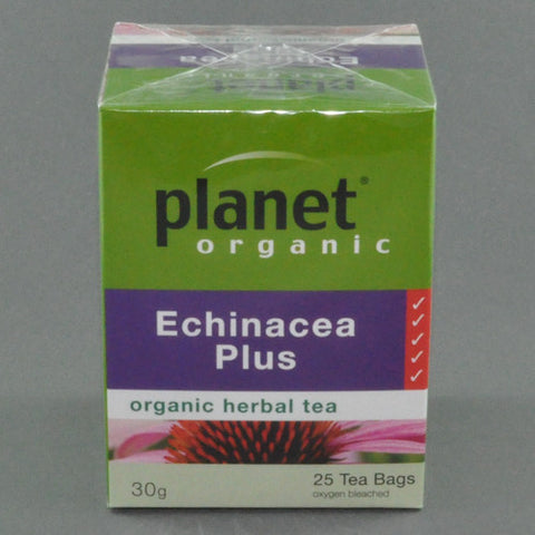 PLANET ORGANIC ECHINACEA PLUS HERBAL TEA PK25