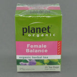 PLANET ORGANIC FEMALE BALANCE HERBAL TEA PK25