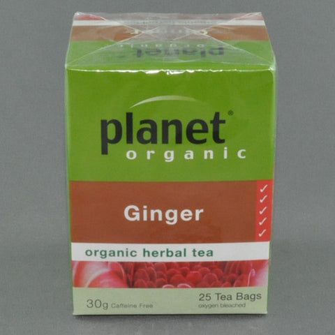 PLANET ORGANIC GINGER HERBAL TEA PK25