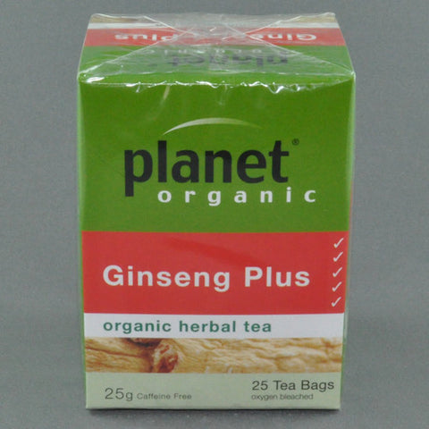 PLANET ORGANIC GINSENG PLUS HERBAL TEA PK25