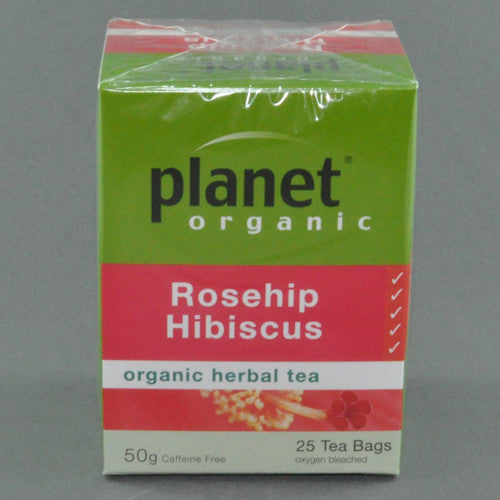 PLANET ORGANIC ROSEHIP HIBISCUS HERBAL TEA PK25