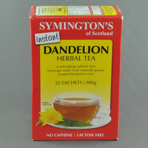 SYMINGTONS DANDELION HERBAL TEA SACHETS 25pk