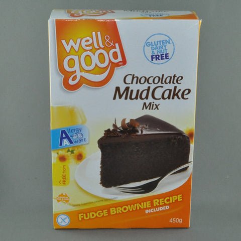 WELL AND GOOD CHOCOLATE MUDCAKE MIX 450G