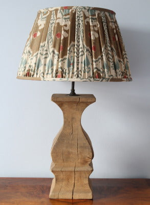 Substantial wooden lamp base with great texture and character