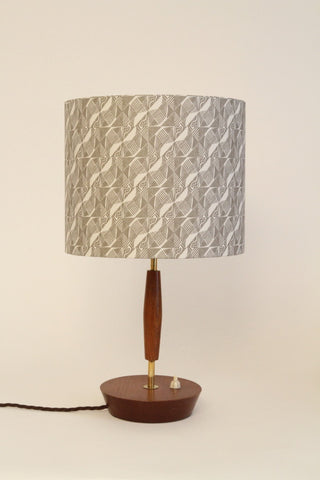 Small 1950's Wooden/Brass Table Lamp