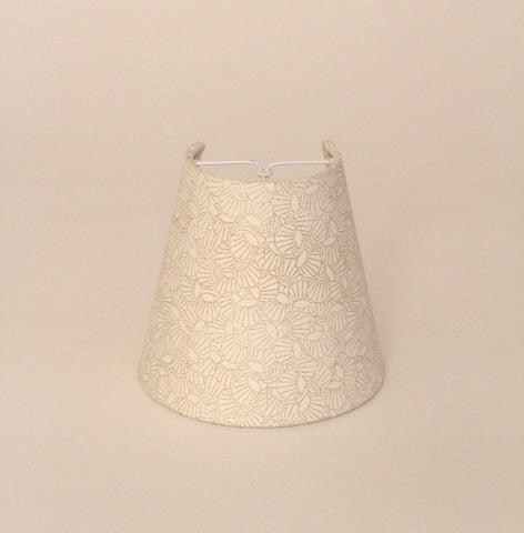 Candleshades from cream, gold handmade paper