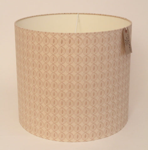 Large lampshade in a pink brown handmade paper