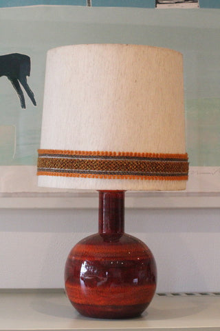 Dark Red Ceramic Lamp