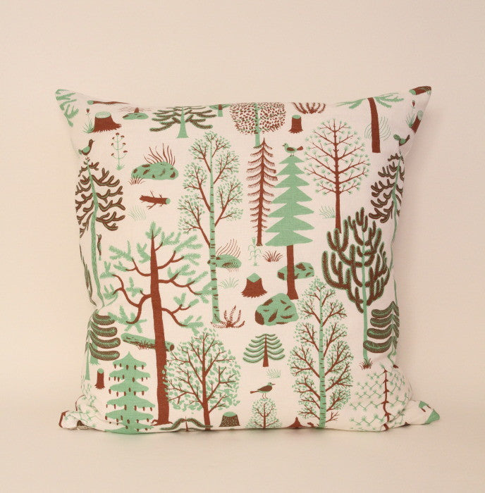 Green Scandanavian pine cushion