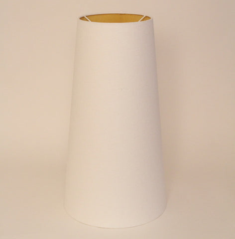 Tall yellow/off white cone shade