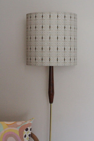 Tall drum shade in Trellis from our paper range