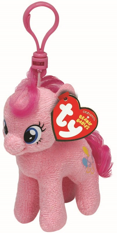 c4772fdf951 Pinkie Pie My Little Pony Beanie Baby Keyring Clip by Ty - 10cm ...
