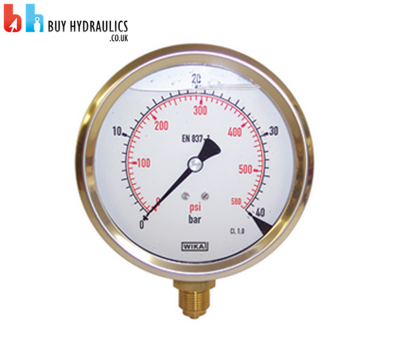 Pressure Gauge 63mm, 0-10 to 0-600 Bar, Bottom Mount