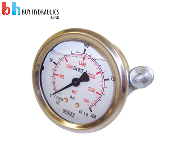 Pressure Gauge 63mm Dial, 0-10 to 0-400 Bar, Panel Mount