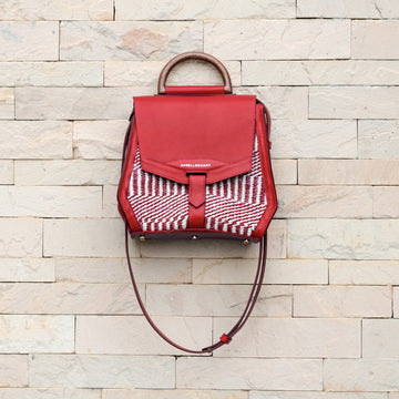 Maya Satchel Mahogany Red