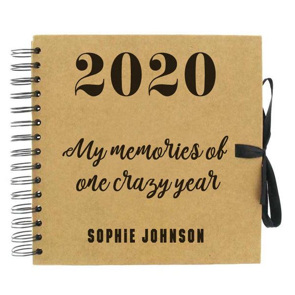 One Crazy Year Scrapbook (Kraft, Black, White)