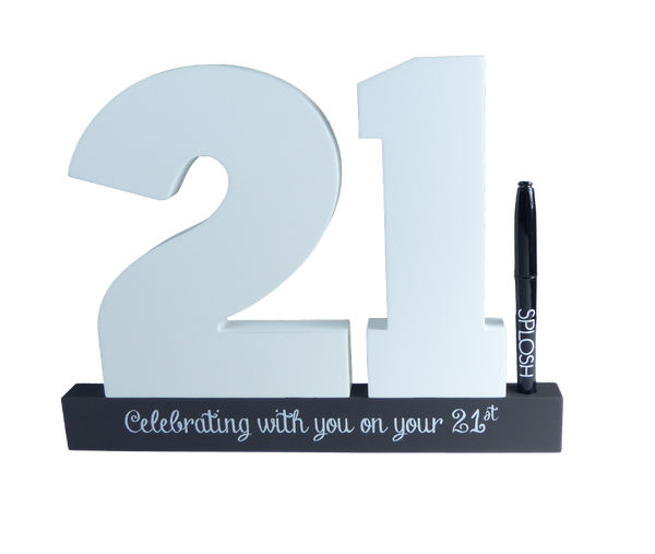 21st Birthday Signature Block by Splosh