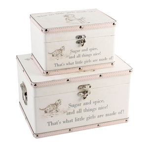 You added 2 Keepsake Boxes, 'What are little girls made of?' to your cart.