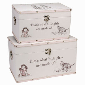 You added 2 Large Keepsake Boxes, 'What are little girls made of?' to your cart.