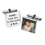 Personalised Photo Silverplated Cufflinks   -   9 Designs to choose from