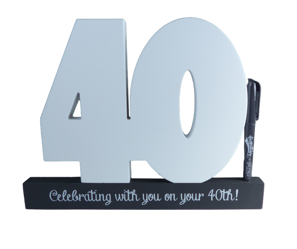 40th Birthday Signature Block by Splosh
