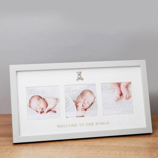 Bambino Welcome to The World Triple Photo Frame