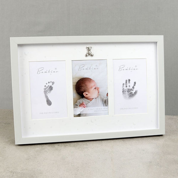 Bambino Hand & Foot Print White Frame + Ink Pad