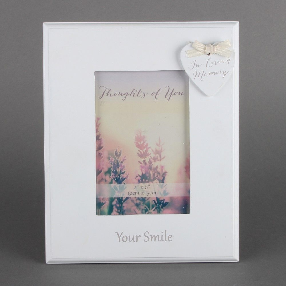 "Thoughts of you Photo Frame 4"" X 6"" - Your Smile"