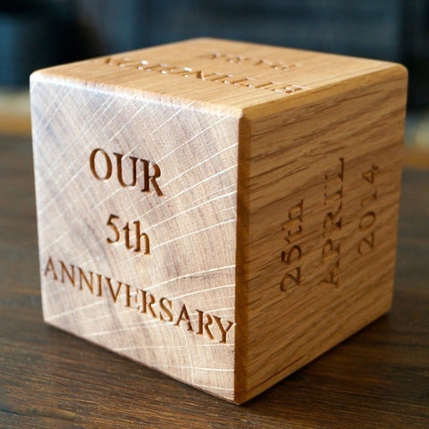 Personalised Solid Wood Message Block - Any Occasion