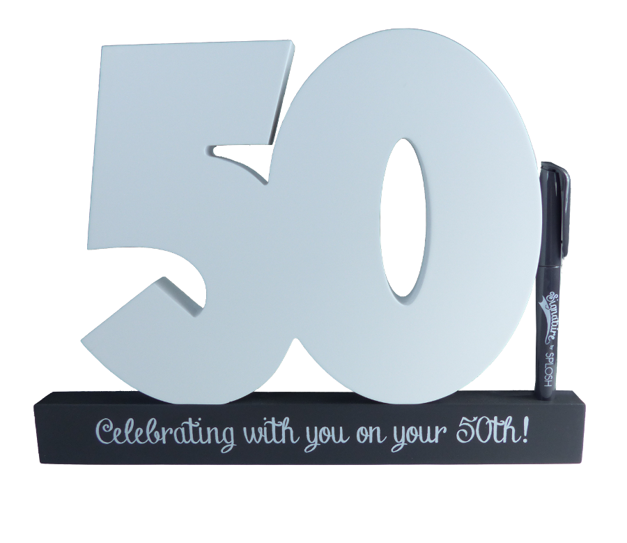 50th Birthday Signature Block by Splosh
