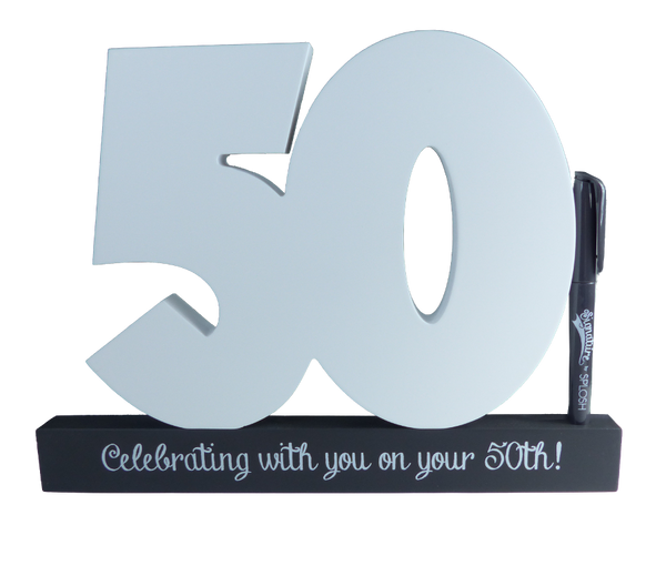 50th Birthday Signature Number Block The Lovely Keepsake Company