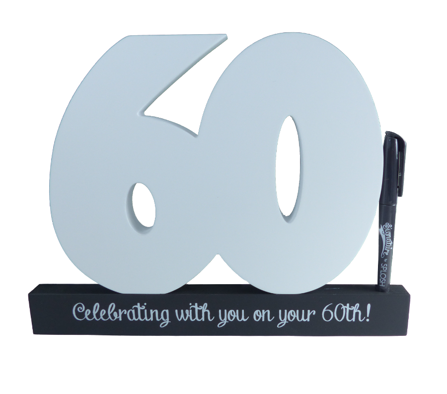 60th Birthday Signature Block by Splosh