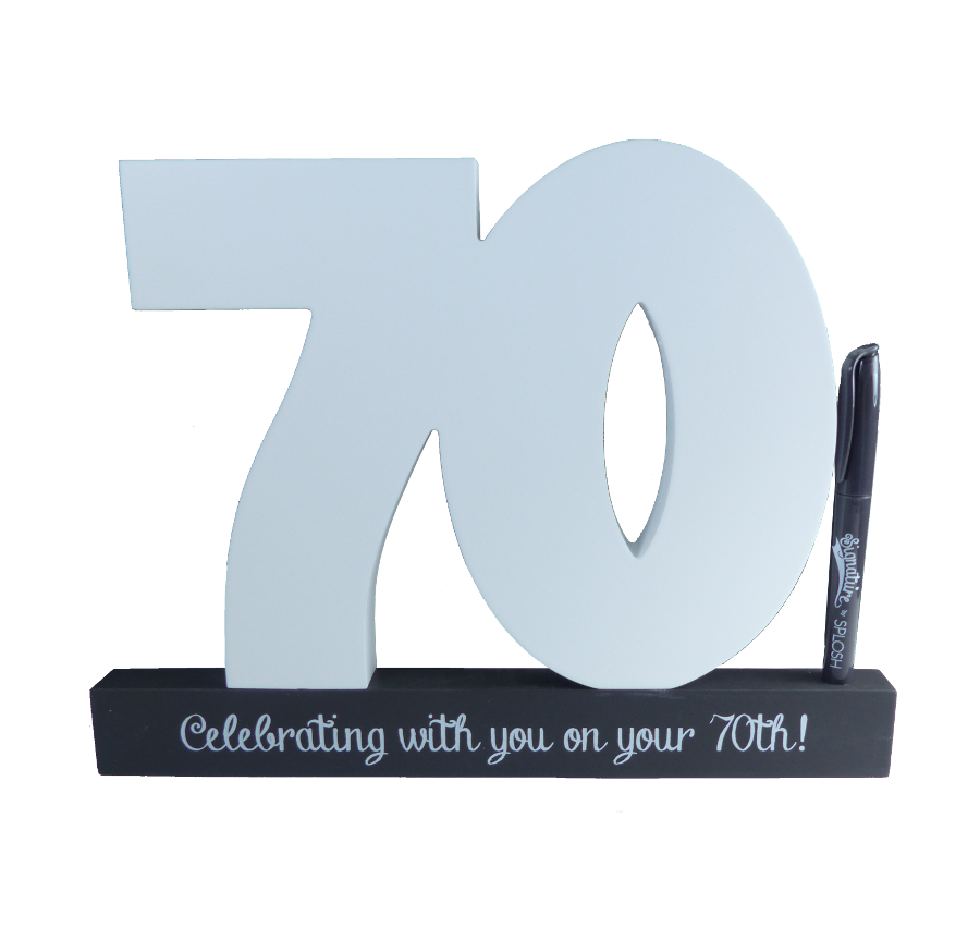 70th Birthday Signature Number Block Tlksco