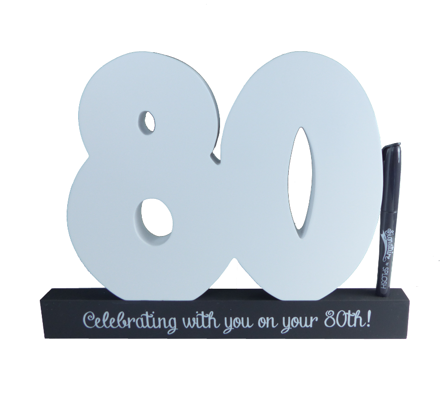 80th Birthday Signature Block by Splosh