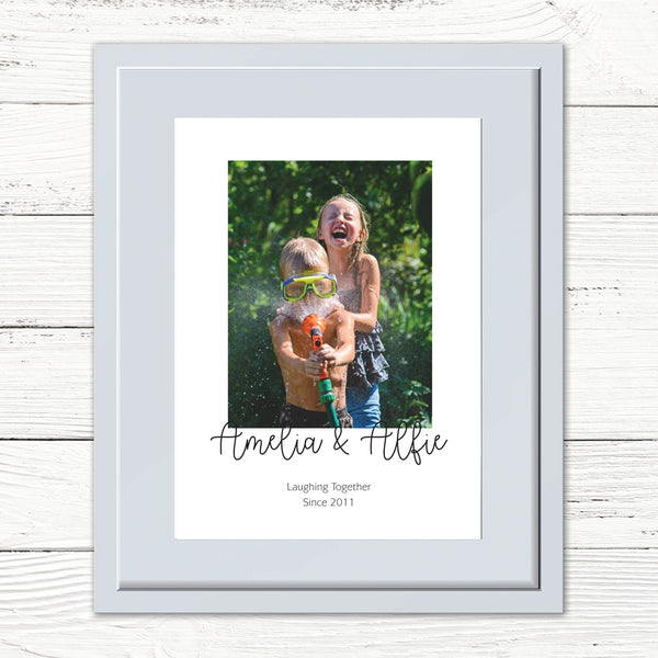 Kids/Siblings Personalised Photo Print